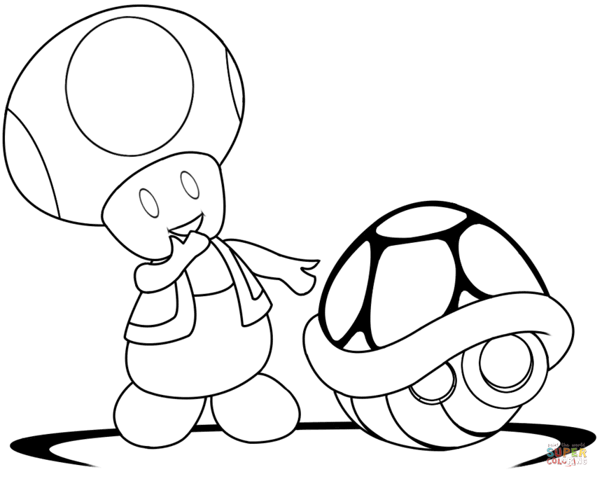 toad coloring pages from super mario mario toad drawing at getdrawings free download mario coloring toad pages super from