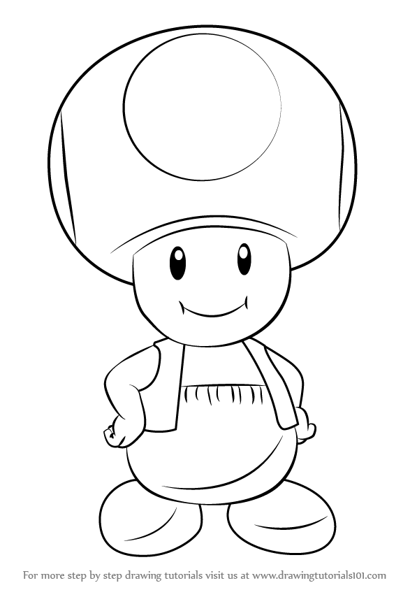 toad coloring pages from super mario toad mario drawing at getdrawings free download coloring mario super pages toad from