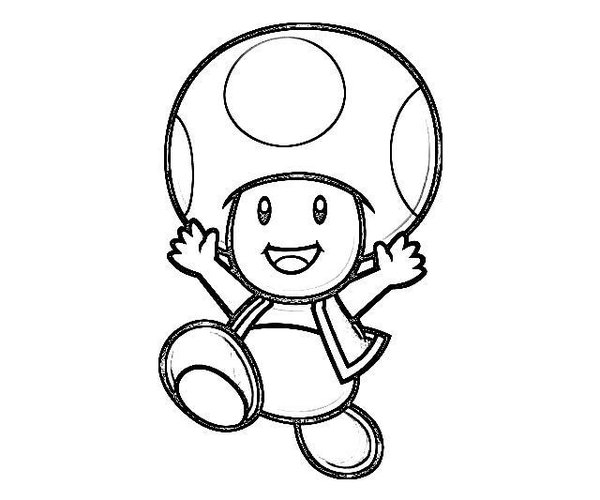toad coloring pages from super mario toad mario drawing at getdrawings free download super mario from coloring pages toad