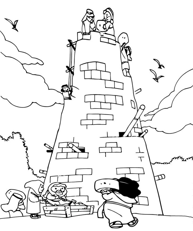 tower of babel coloring pages for kids 32 tower of babel coloring page with images tower of coloring babel of tower pages kids for