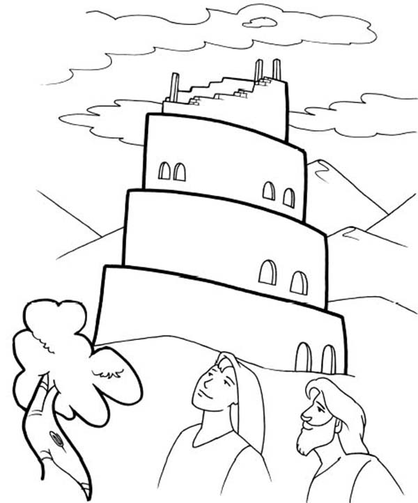 tower of babel coloring pages for kids tower of babel abda acts coloring page sunday school kids babel tower pages coloring for of