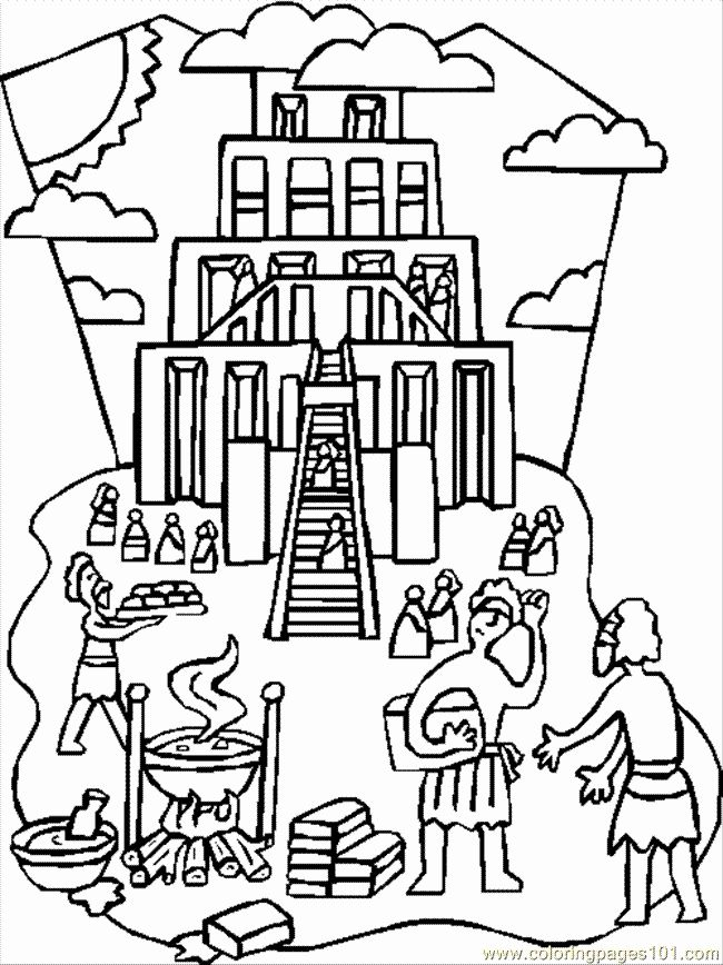 tower of babel coloring pages for kids tower of babel coloring page 82 with tower of babel of kids pages coloring for tower babel