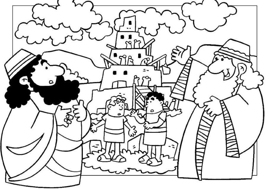tower of babel coloring pages for kids tower of babel coloring page for sunday school educative for tower of babel kids coloring pages