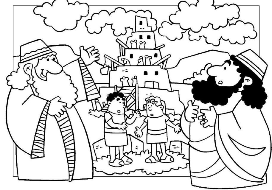 tower of babel coloring pages for kids tower of babel coloring page homeschool bible learning of pages babel kids for tower coloring
