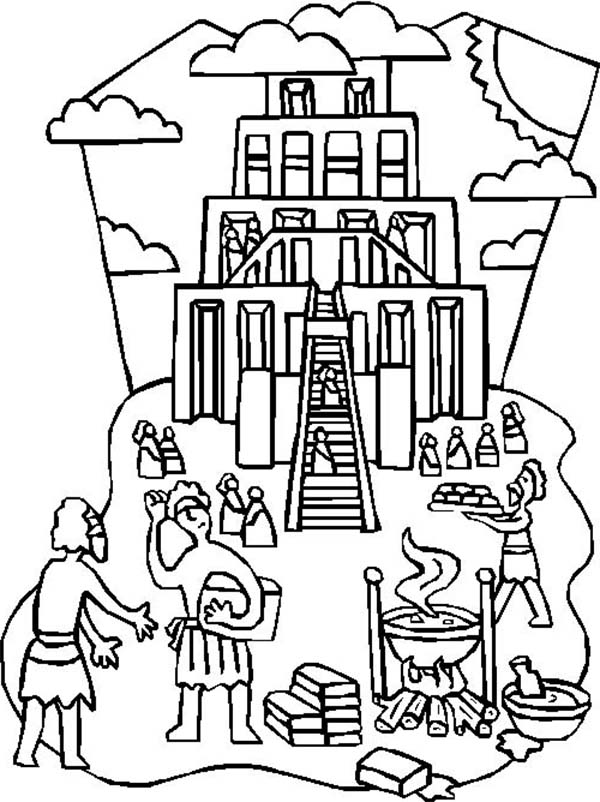 tower of babel coloring pages for kids tower of babel coloring page sunday school coloring babel coloring of kids for tower pages