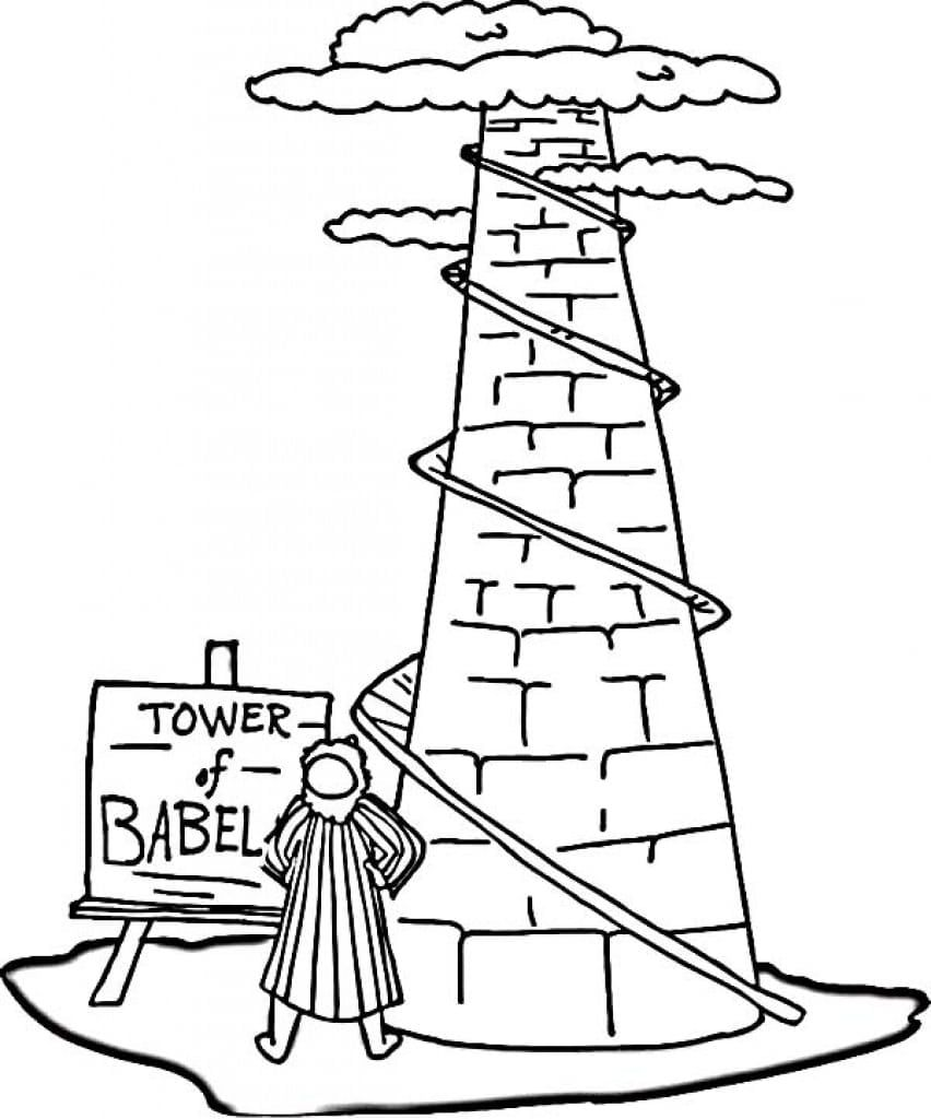 tower of babel coloring pages for kids tower of babel coloring page tower of babel babel for kids of pages tower coloring