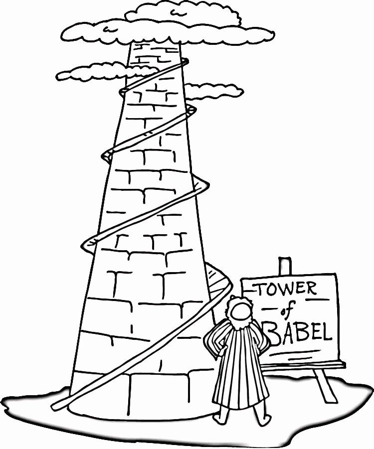 tower of babel coloring pages for kids tower of babel coloring pages bible coloring pages babel tower pages coloring of for kids