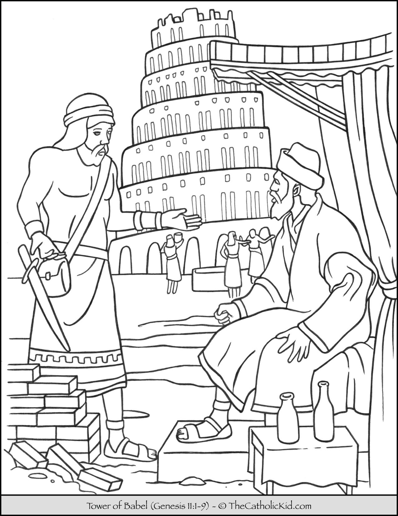 tower of babel coloring pages for kids tower of babel coloring pages free coloring home tower kids coloring for babel of pages
