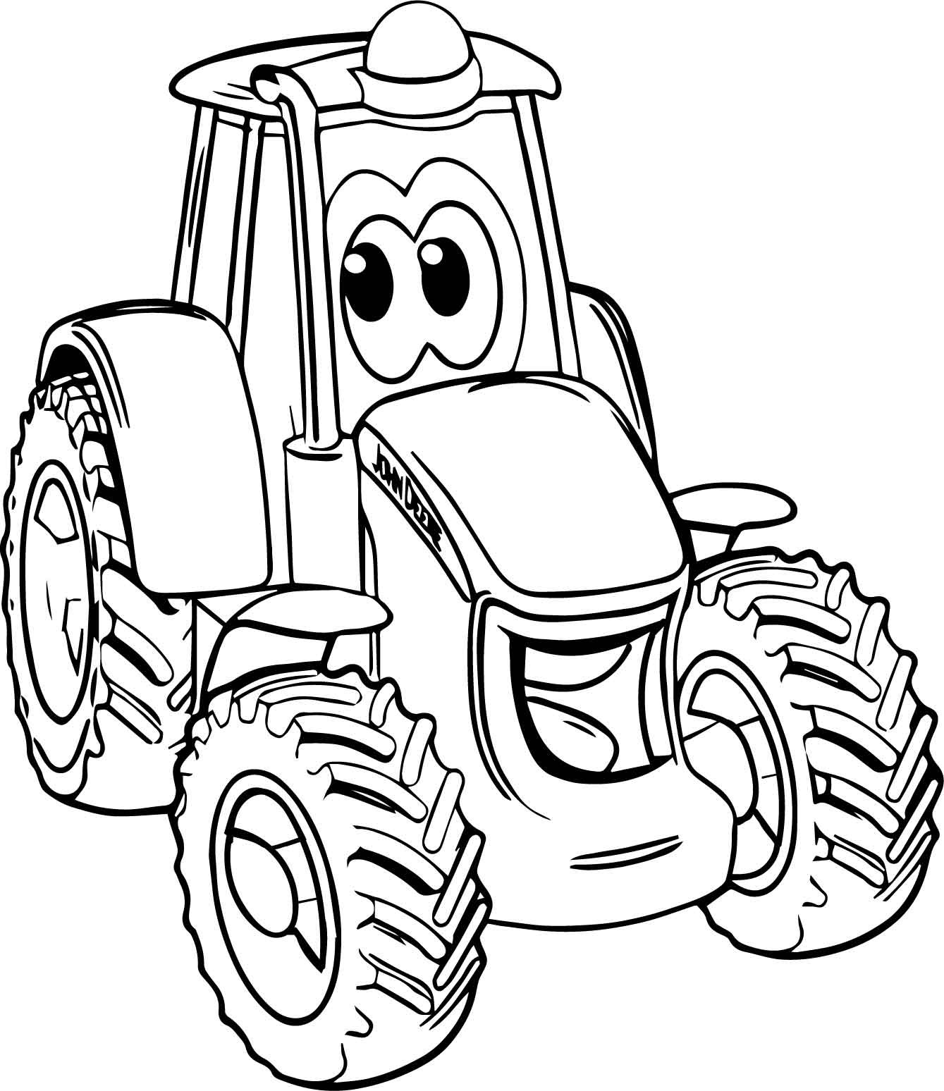 tractor coloring to print tractor coloring pages at getdrawings free download print tractor to coloring