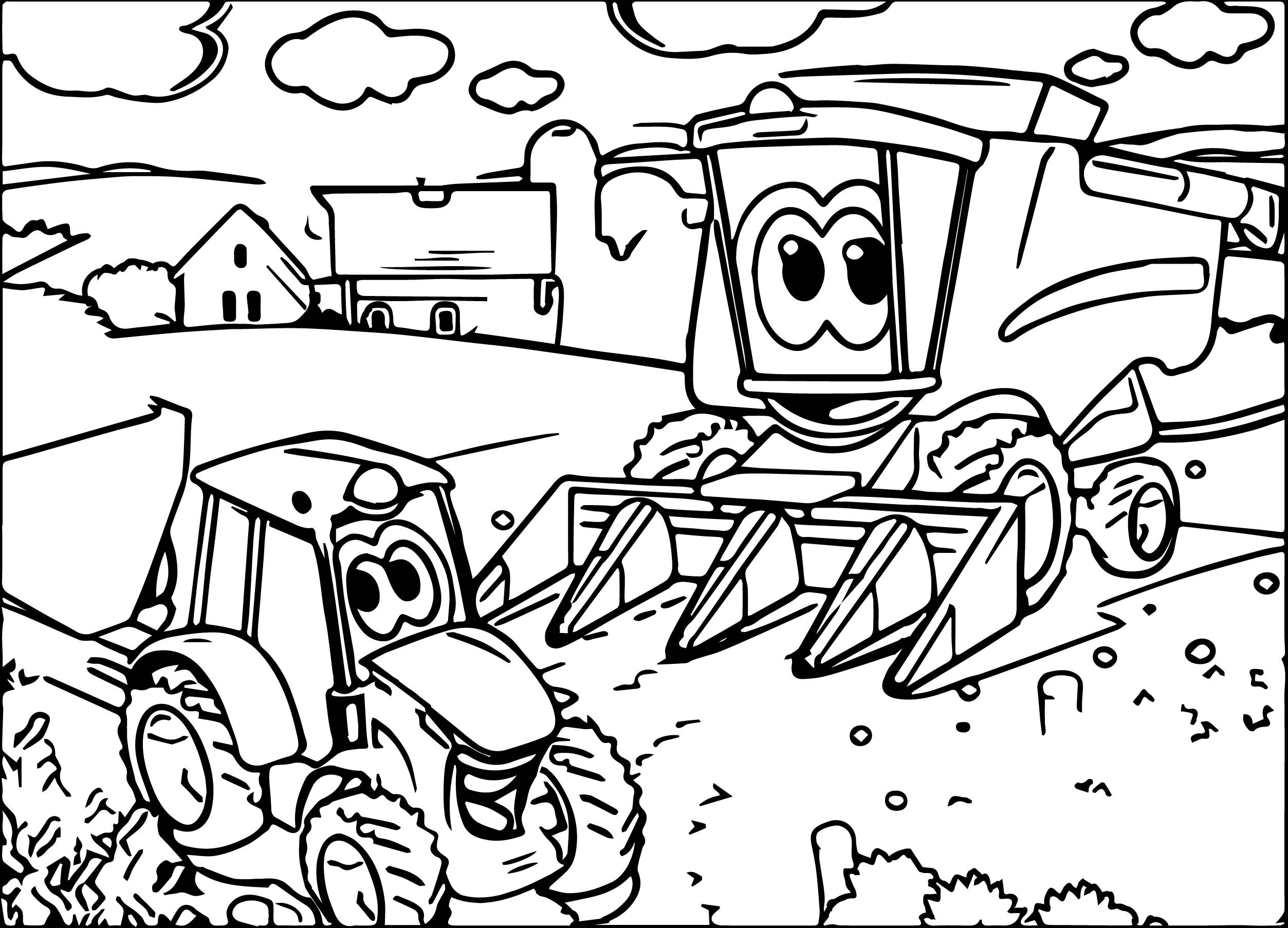 tractor coloring to print traktory a jiné stroje omalovánky pro děti coloring backhoe tractor print coloring to