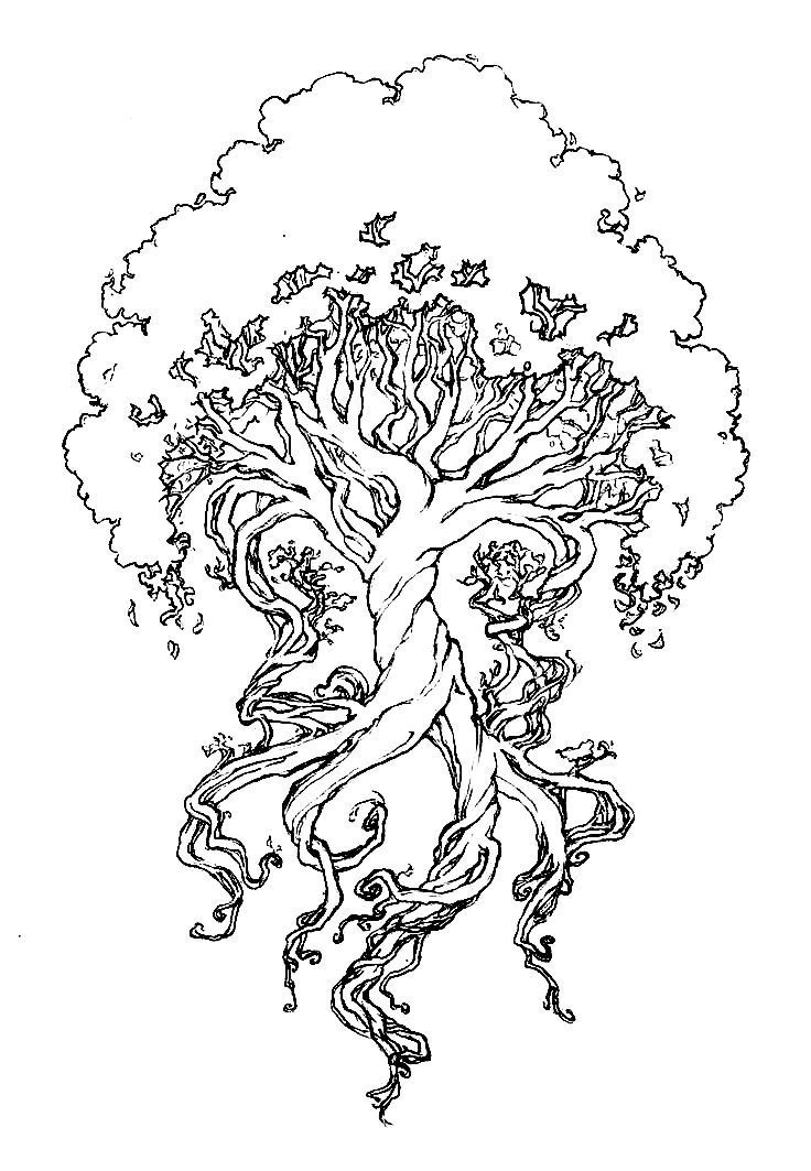 tree of life coloring pin on color happy tree of life coloring