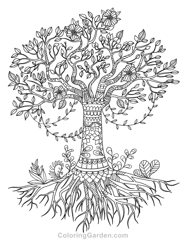 tree of life coloring tree lady by daevilmagiciano on deviantart tree of life tree of coloring life