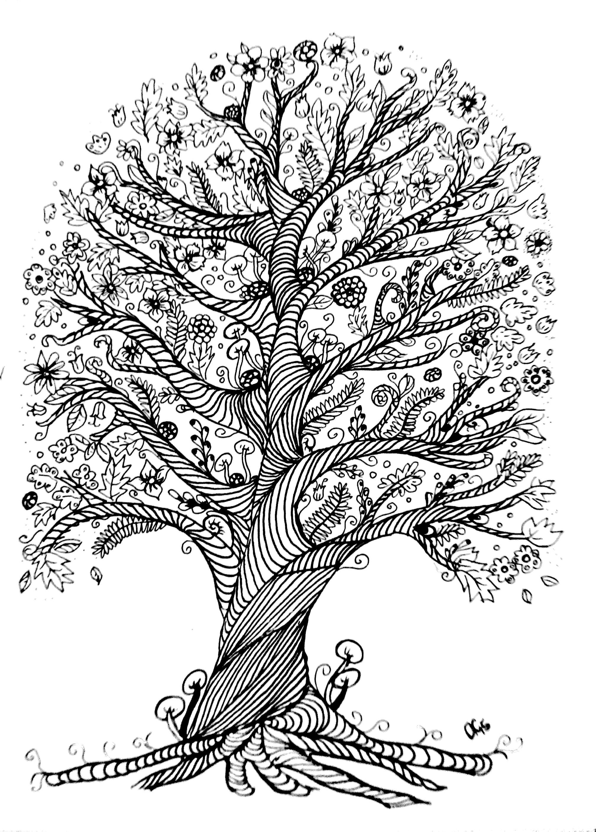 tree of life coloring tree of life coloring pages at getdrawings free download life of coloring tree
