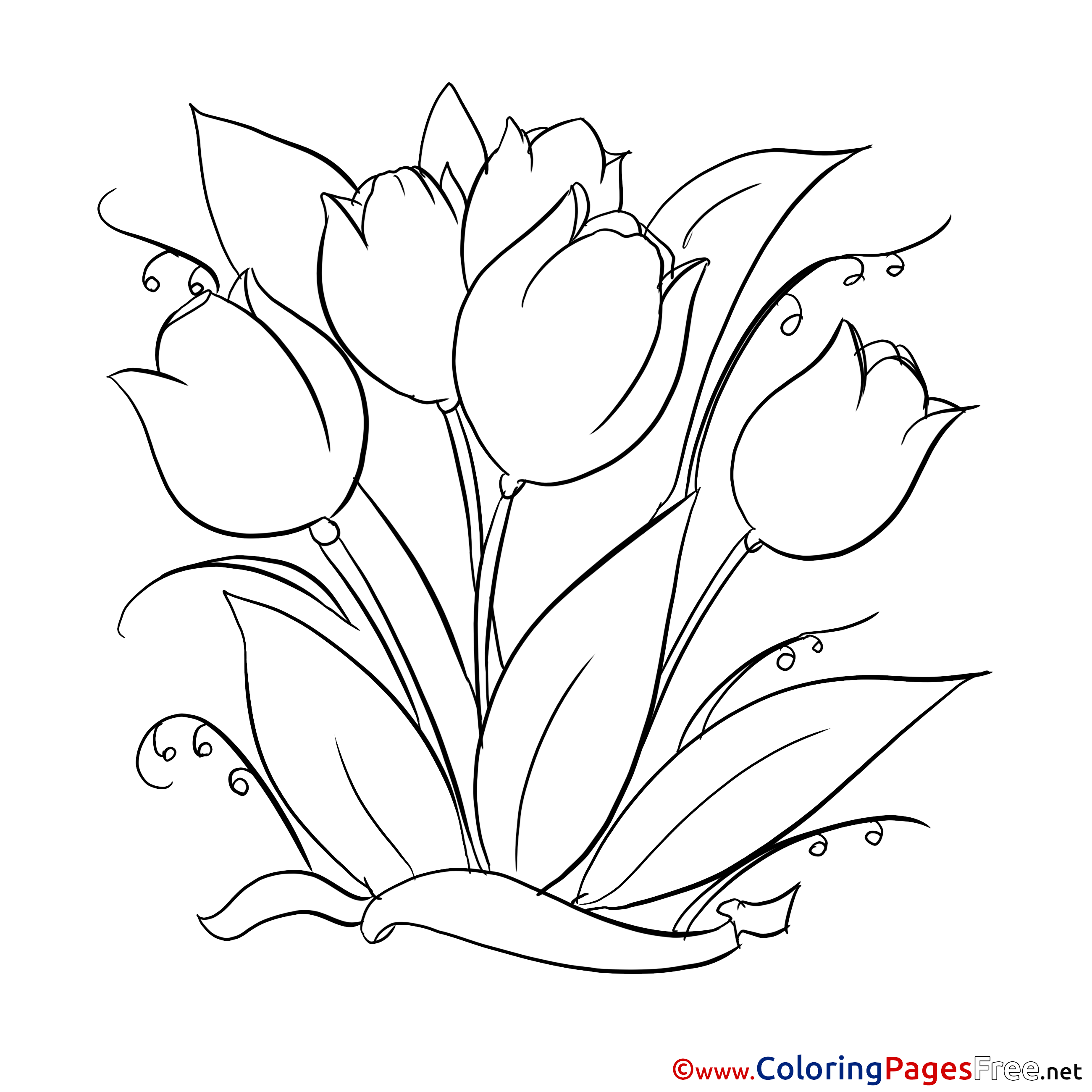 tulip coloring pictures painting tulips download printable coloring pages pictures coloring tulip