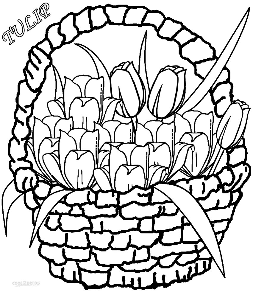 tulip coloring pictures printable tulip coloring pages for kids cool2bkids tulip pictures coloring