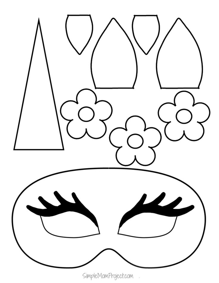 unicorn print out unicorn face masks with free printable templates simple out unicorn print