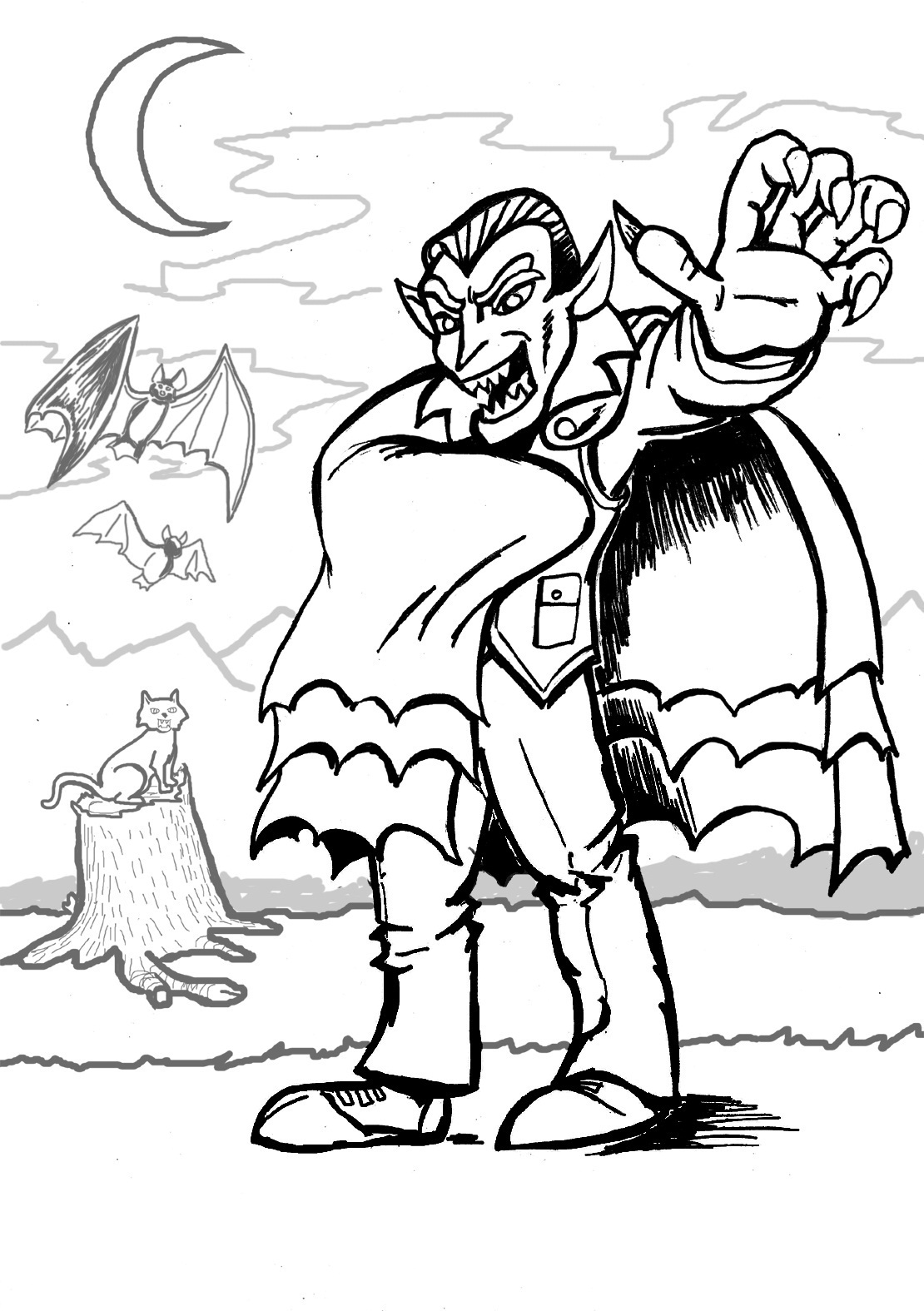 vampire coloring free printable vampire coloring pages for kids vampire coloring