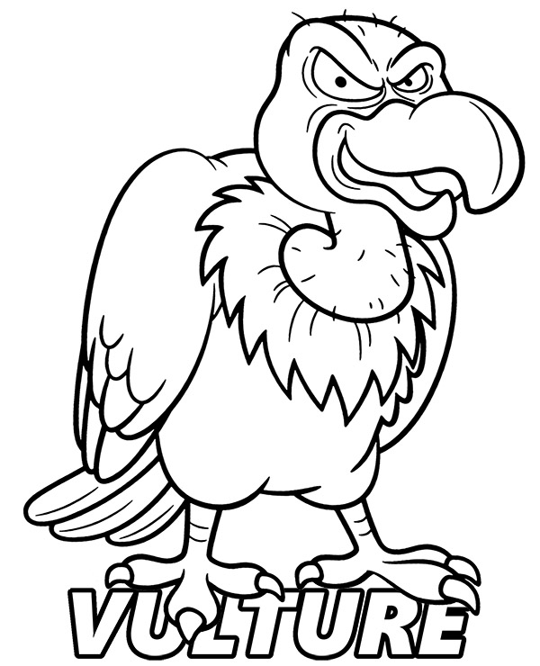 vulture coloring page vulture coloring pages download and print for free coloring vulture page