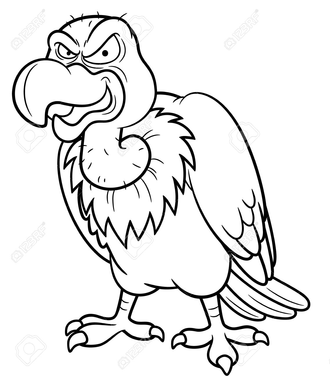 vulture coloring page vulture coloring pages preschool and kindergarten coloring page vulture