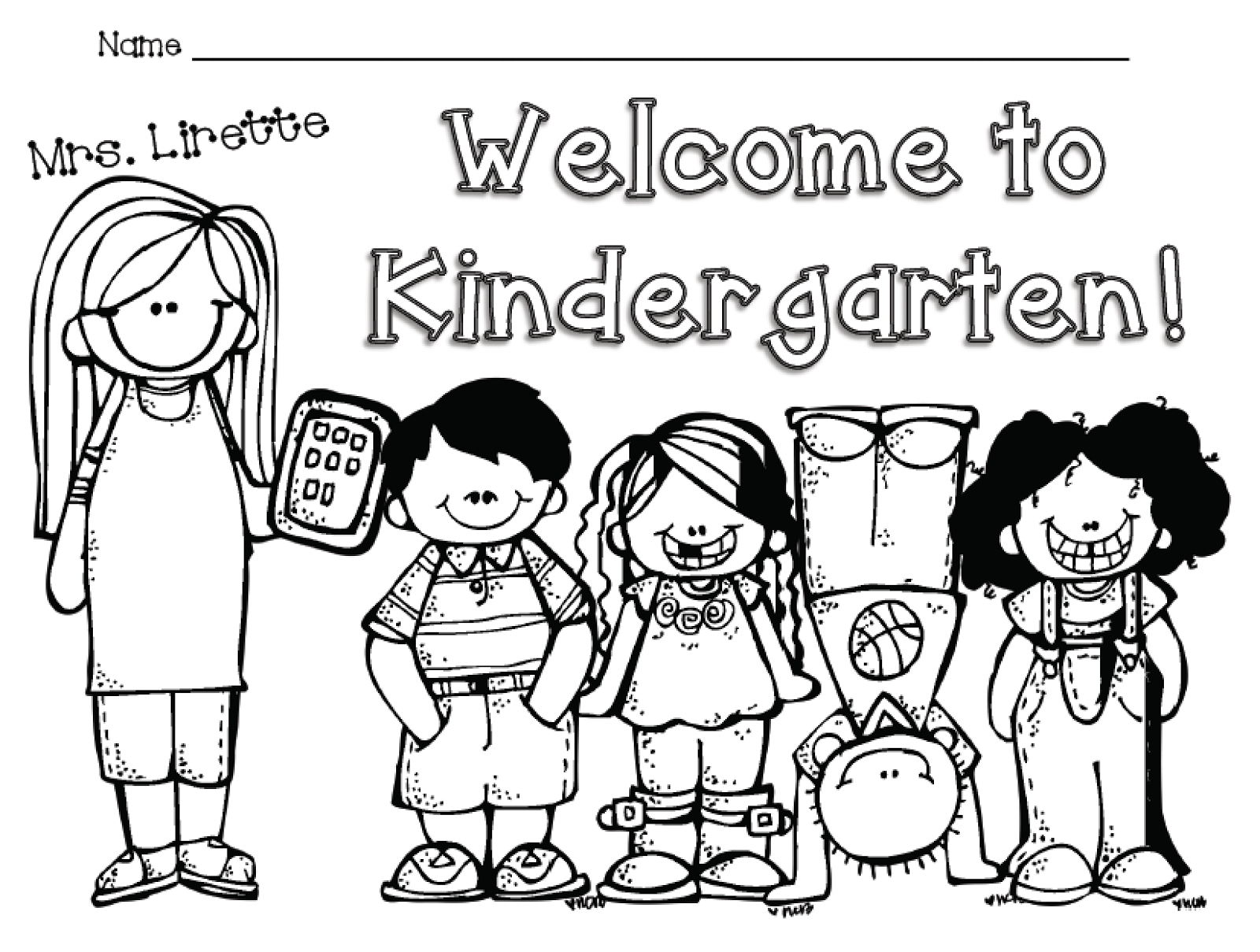 welcome to kindergarten coloring sheet welcome to kindergarten clipart black and white collection coloring kindergarten sheet to welcome