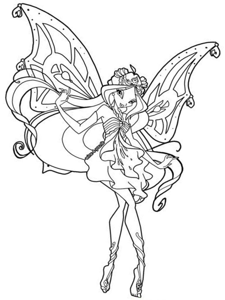 winx coloring pages to print winx flora coloring pages for free winx flora winx pages coloring