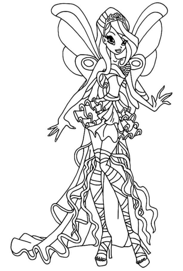 winx coloring pages winx club bloom drawing at getdrawings free download coloring winx pages
