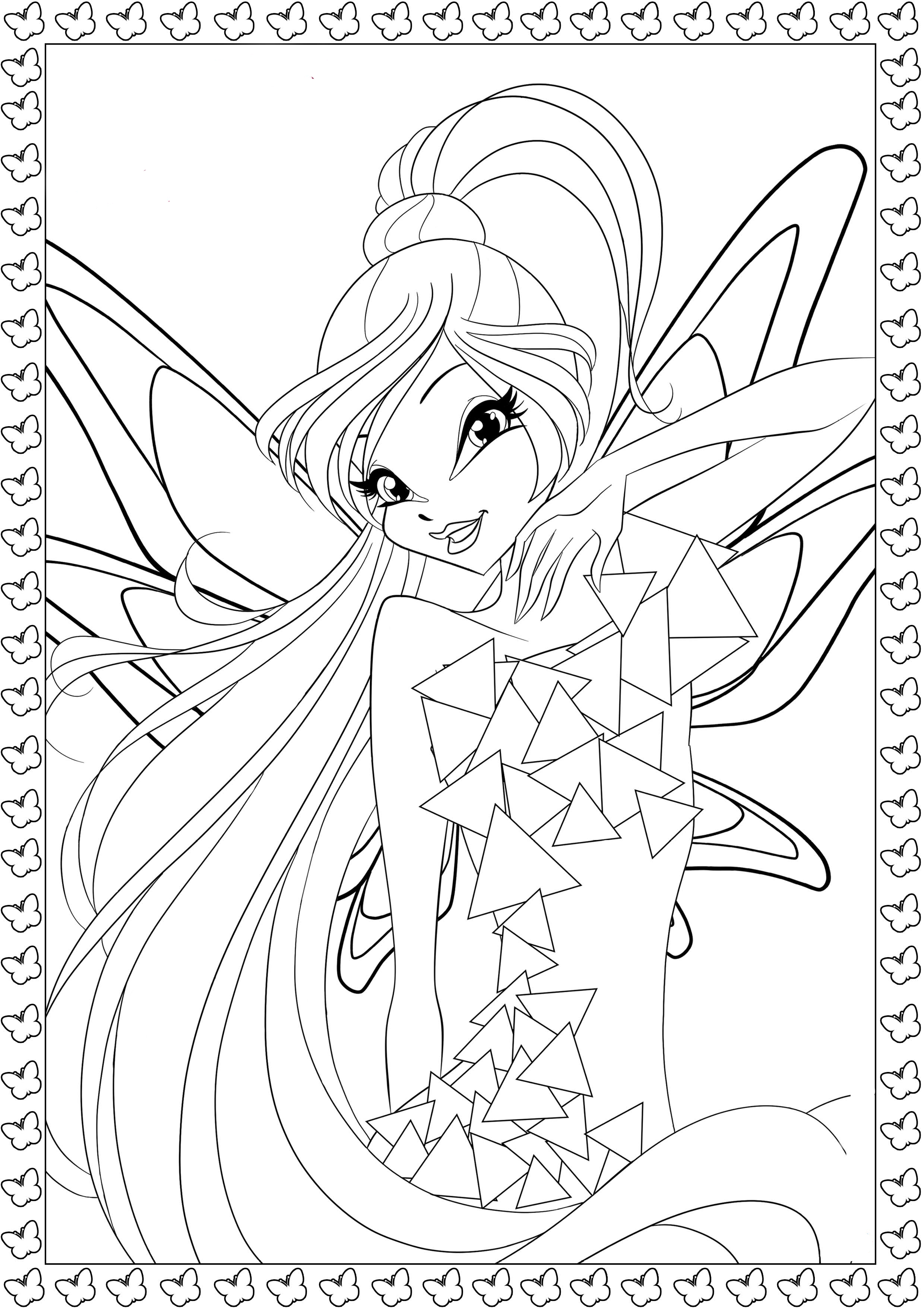 winx coloring pages winx harmonix coloring pages to download and print for free coloring winx pages