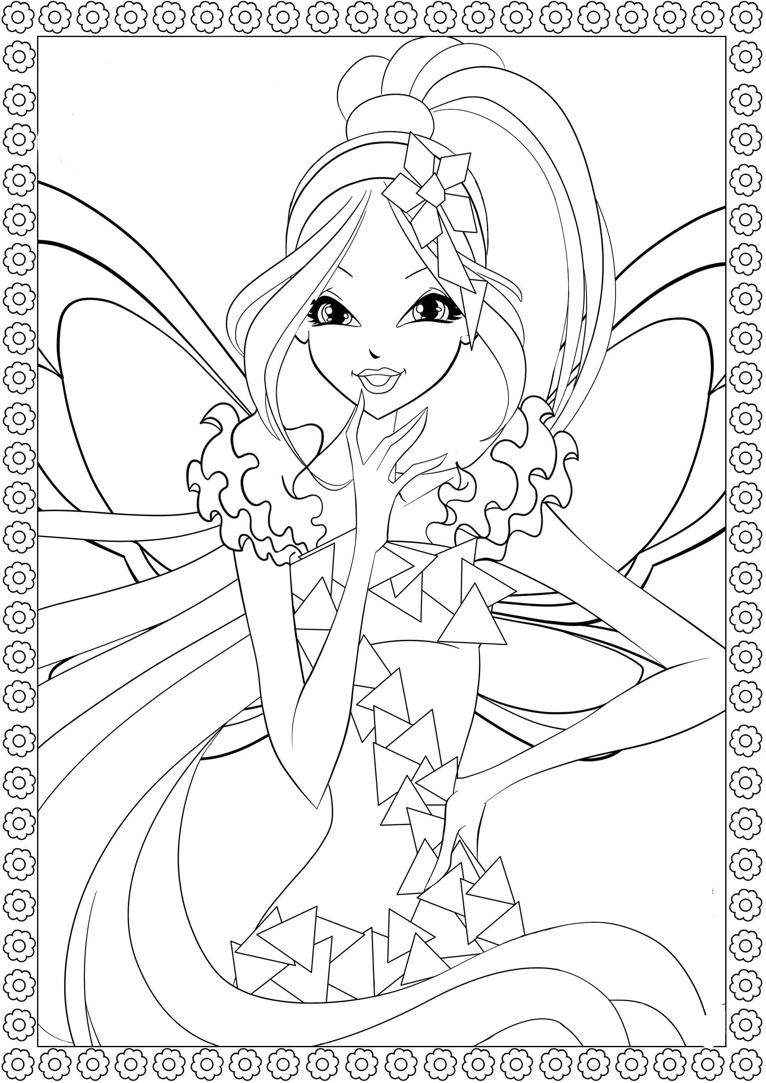 winx coloring pages winx mermaid coloring pages free printable winx mermaid pages winx coloring