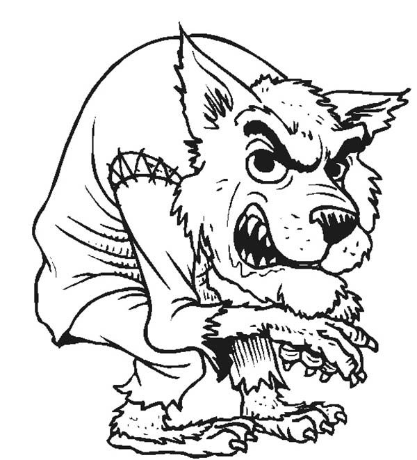 wolfman coloring pages notorious werewolf coloring page coloring sun pages wolfman coloring