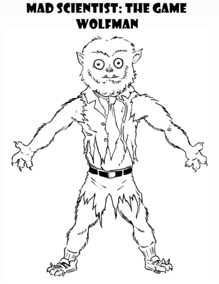 wolfman coloring pages the wolfman coloring pages with images monster wolfman coloring pages