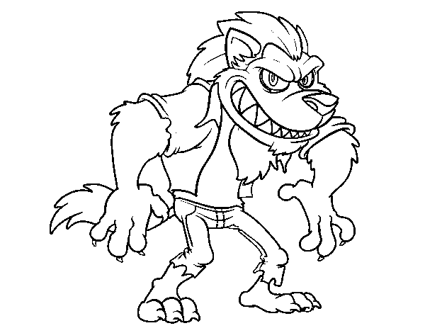 wolfman coloring pages werewolf coloring page coloring home coloring pages wolfman