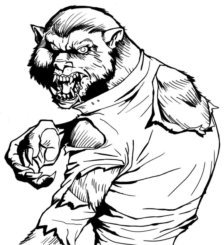 wolfman coloring pages werewolf coloring pages coloring pages to download and print coloring wolfman pages