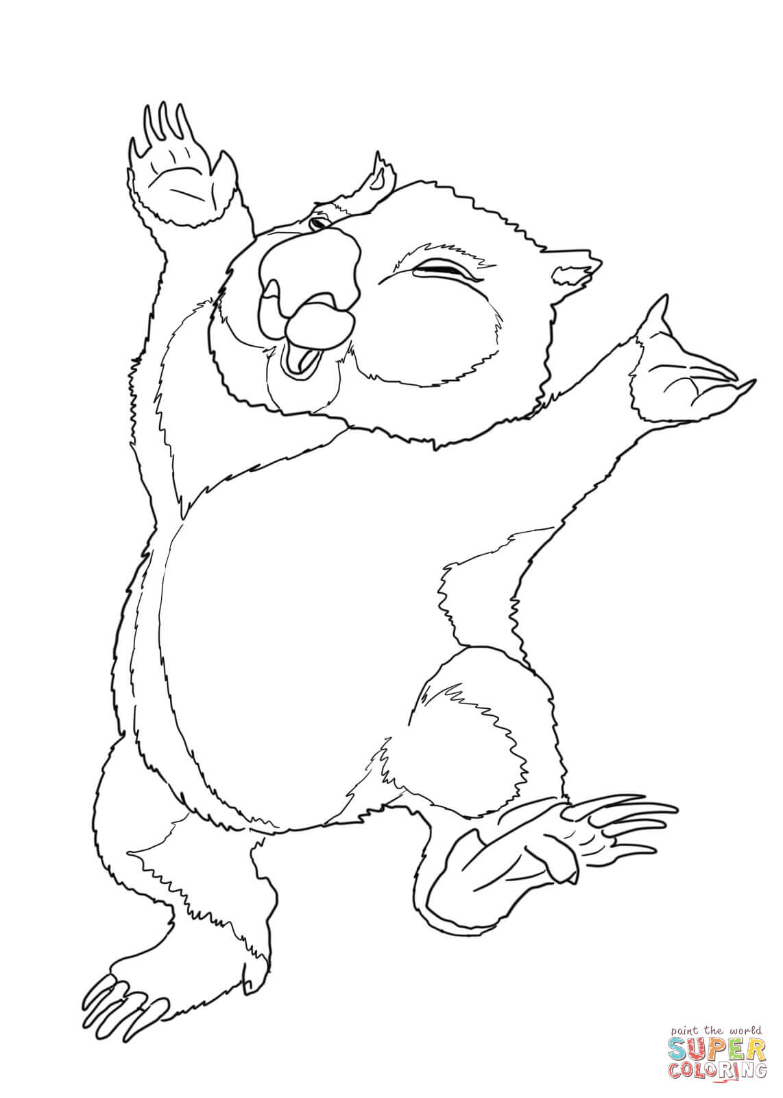 wombat colouring wombat coloring page wombat colouring