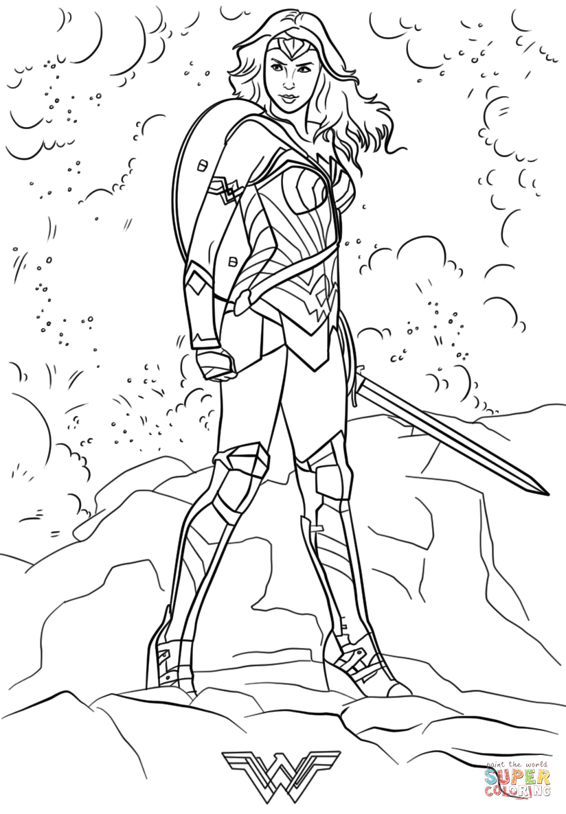 wonder woman printable coloring pages wonder woman coloring pages to download and print for free coloring printable pages woman wonder