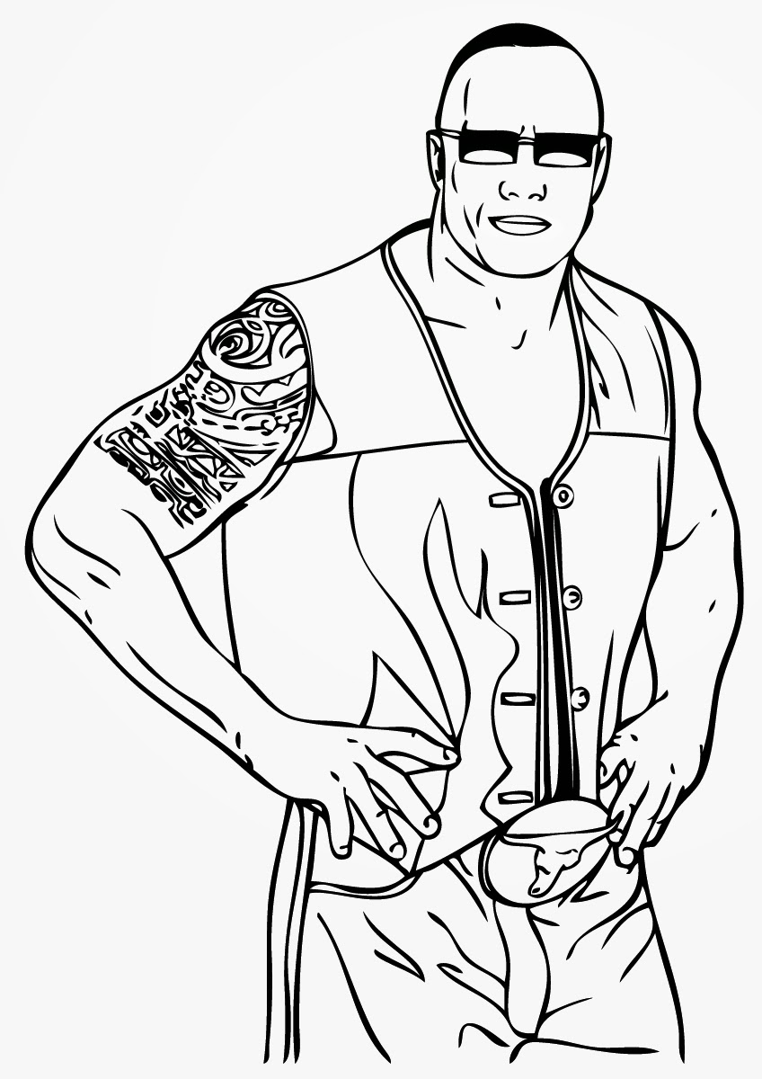wwe colouring pictures free printable world wrestling entertainment or wwe wwe pictures colouring