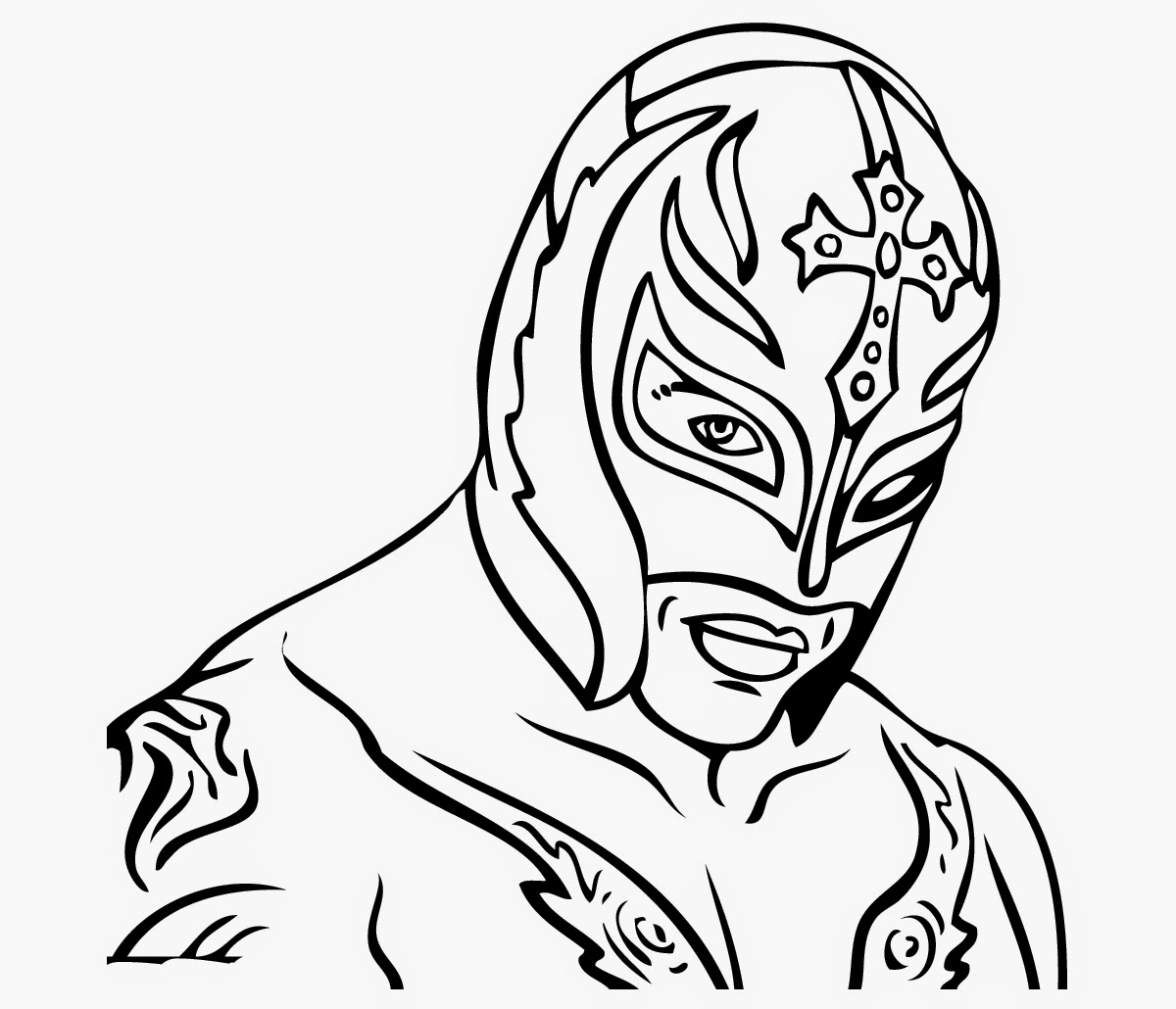 wwe colouring pictures wwe coloring pages of rey mysterio wwe colouring pictures 1 1