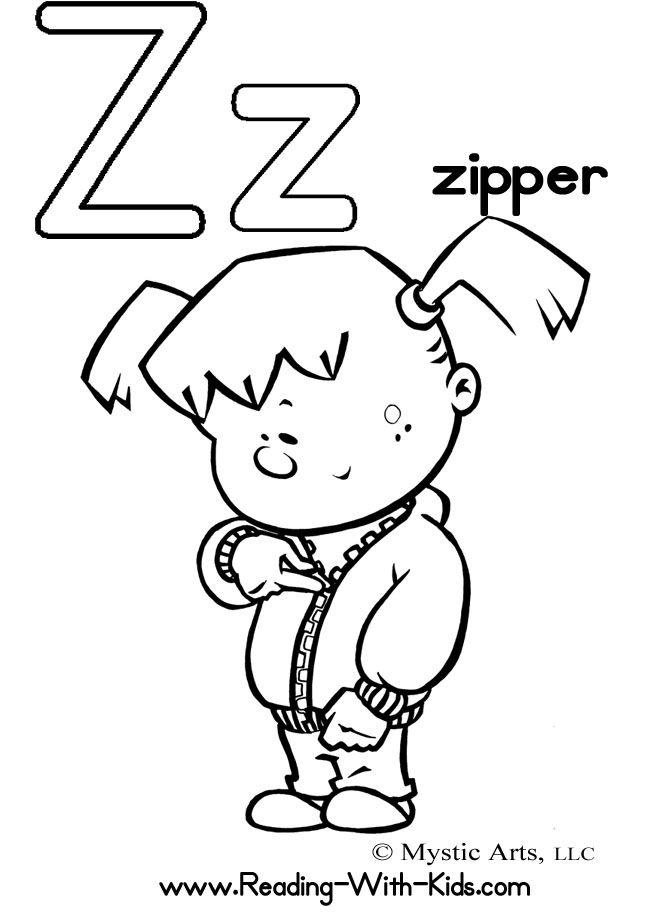 z is for zipper coloring page 1000 images about letters coloring on pinterest zipper for coloring z is page