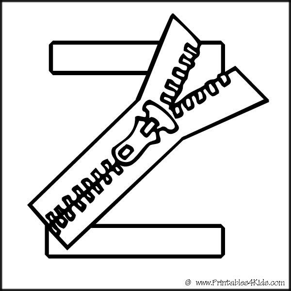 z is for zipper coloring page alphabet coloring page letter z zipper printables for page z is for coloring zipper