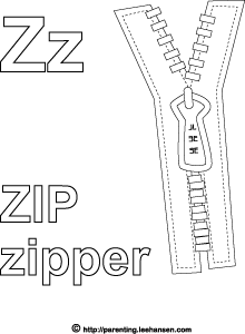 z is for zipper coloring page letter z alphabet coloring activity zip zipper z zipper coloring is for page