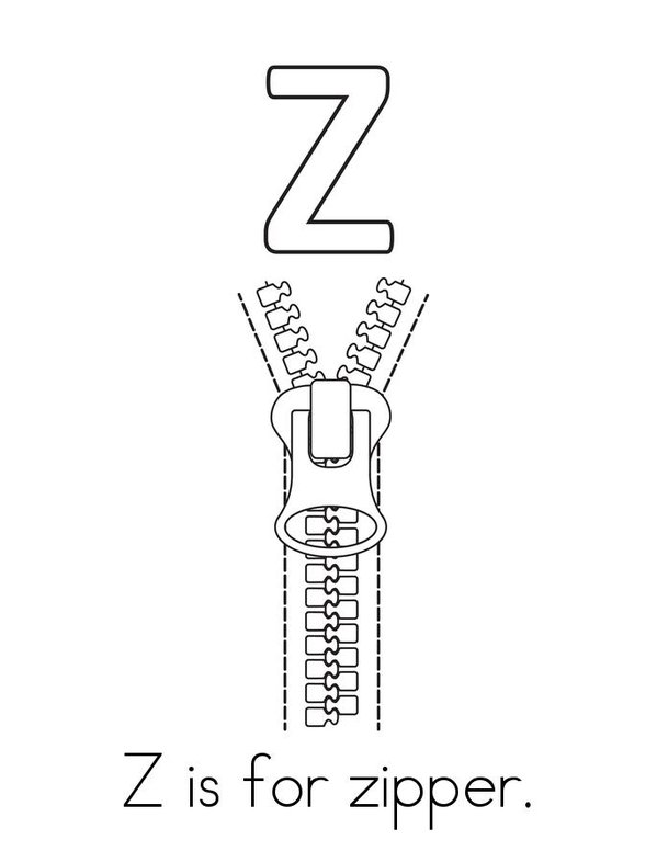 z is for zipper coloring page pic z is for zipper coloring page lettering letter z zipper page z for coloring is
