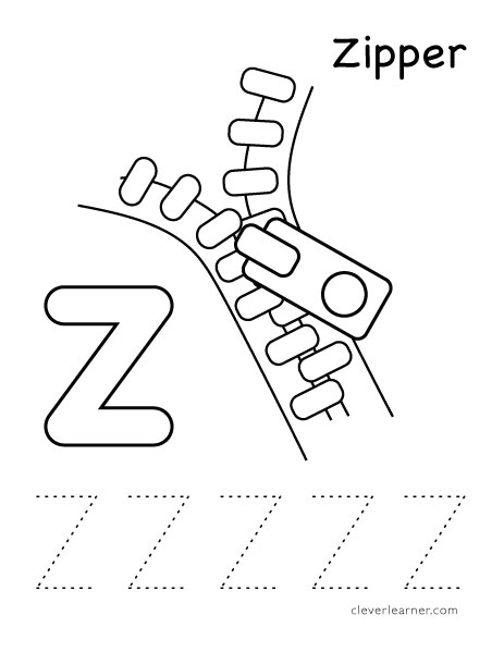 z is for zipper coloring page z is for zipper book twisty noodle coloring zipper z page is for