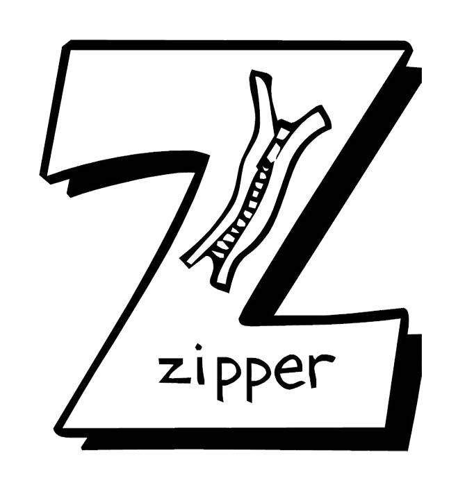 z is for zipper coloring page z is for zipper coloring craft activity woo jr kids zipper coloring is z page for