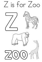 z is for zoo coloring page coloring activity pages quotzz is for zebraquot coloring page for coloring page zoo is z