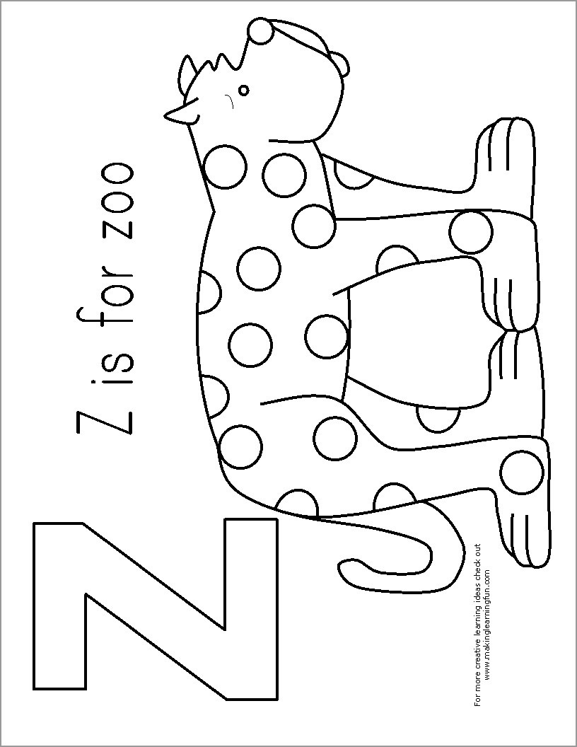 z is for zoo coloring page letter z coloring pages coloring home zoo is z page coloring for