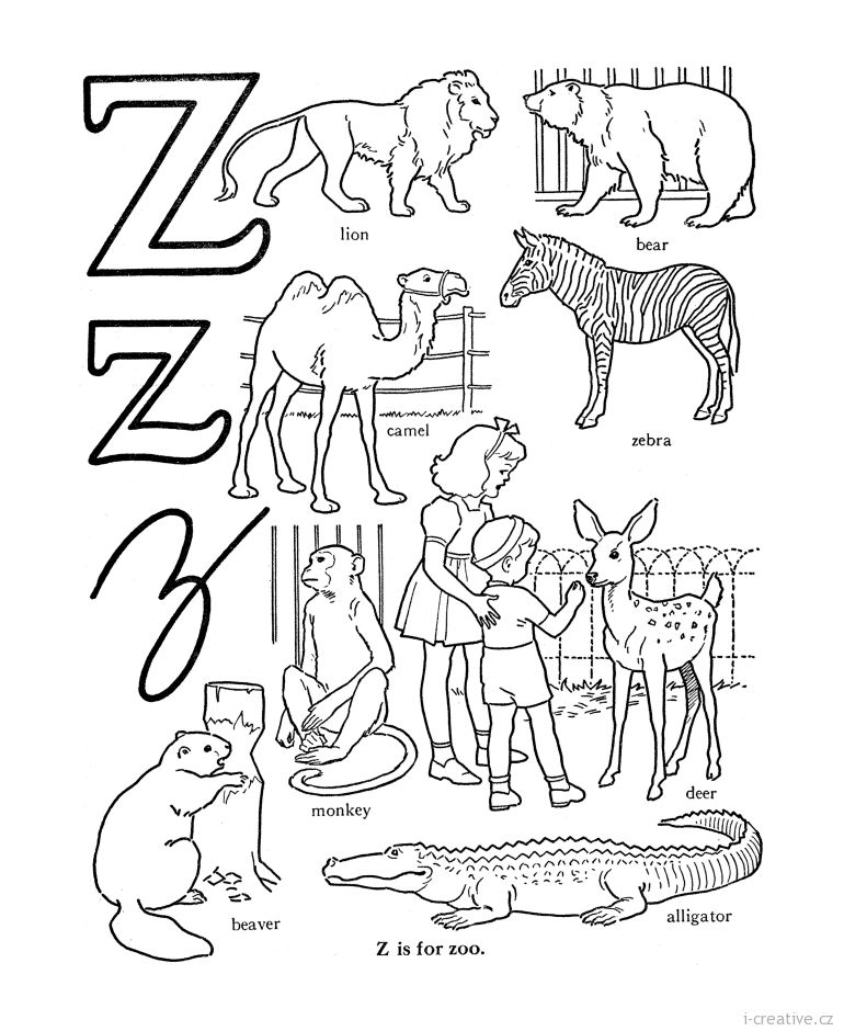 z is for zoo coloring page letter z is for zoo coloring page zoo coloring pages page is zoo coloring for z