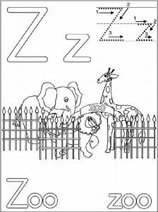 z is for zoo coloring page my letter z coloring pages alphabet coloring pages for zoo is coloring page z