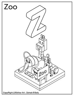 z is for zoo coloring page pinterest the worlds catalog of ideas coloring zoo is z for page