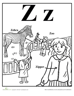 z is for zoo coloring page top 10 letter z coloring pages your toddler will love to z zoo is for coloring page