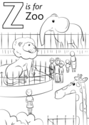 z is for zoo coloring page z is for zoo coloring page for coloring zoo is page z