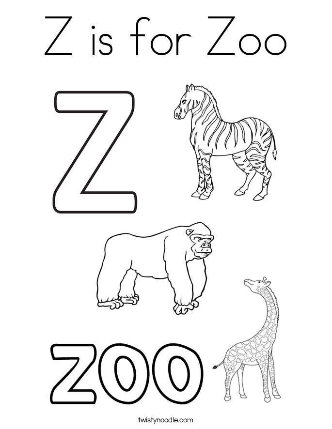 z is for zoo coloring page z is for zoo coloring page z is coloring for page zoo